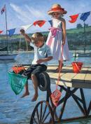 Fishing From The Jetty by Sherree Valentine Daines