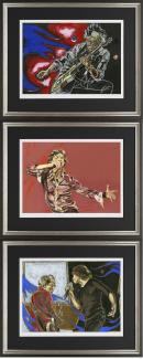 Glimmer Suite- Set of 3 Framed by Ronnie Wood