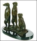 Meerkats - Bronze by Mick Simpson