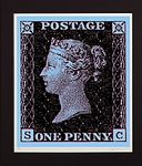 Penny Black - Blue by Simon Claridge