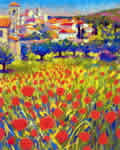 Poppies At Lourmarin Provence by John Holt