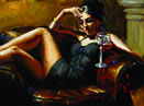 Fabian Perez - Red On Yellow III