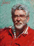 Rolf Harris - Self Portrait In Striped Shirt