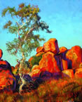 Rolf Harris - Single Gum Tree And Devil's Marbles