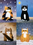 The Weather Fourcats (Set of 4) by Sue Hemming