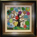 Tree of Harmony Small Square I a limited edition print by Kerry Darlington
