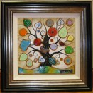 Tree of Harmony Small Square II a limited edition print by Kerry Darlington