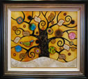 Tree of Tranquility, Square (Cream Base, Yellow Background) by Kerry Darlington