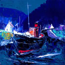 Tug On The Crinan Canal by John Lowrie Morrison