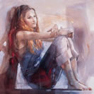 Whisper (canvas) by Christine Comyn